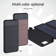 Solar Power Bank 20000mAh Waterproof Solar Charger Battery Backup Powerbank For Mobile Tablets