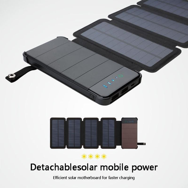 Solar Power Bank 20000mAh Waterproof Solar Charger Battery Backup Powerbank For Mobile Tablets - GreenLit Grow