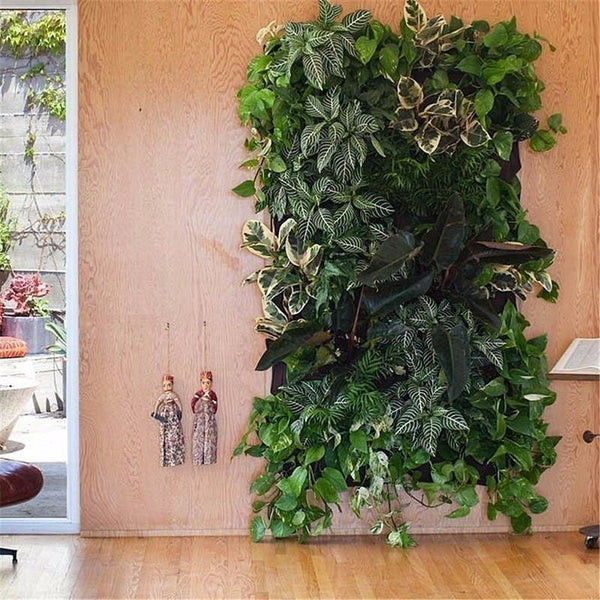 Vertical Garden Planter Wall-mounted Planting Flower Grow Bag 7 Pocket 100cm*30cm - GreenLit Grow