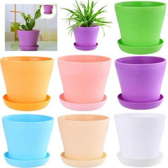 Colourful Mini Plastic Flower Pot Succulent Plant