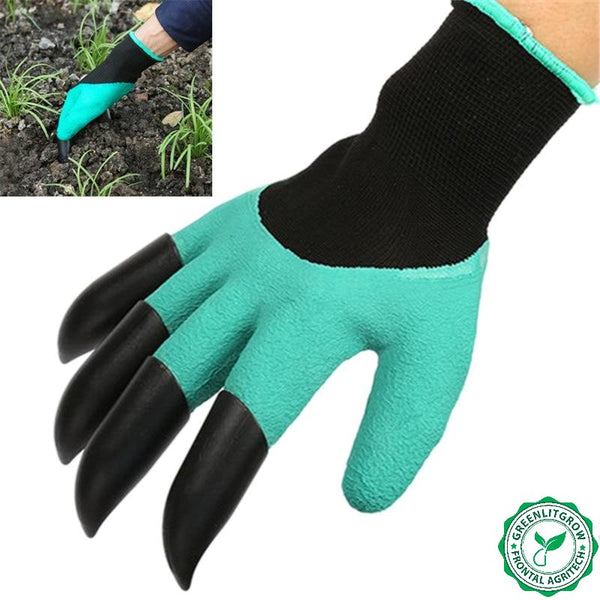 1 Pair GreenLit Grow™ Bear Gardening Glove with Claw - GreenLit Grow