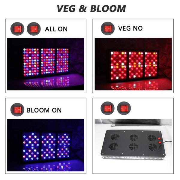 Plants Lights Grow Tent Box with Full Spectrum LED Grow Light For Indoor greenhouse Hydroponics - GreenLit Grow