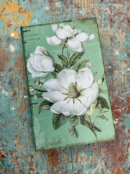 Green Floral Treasure Box