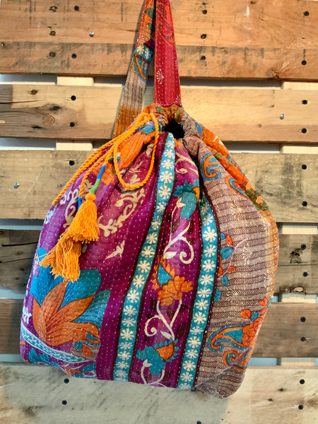 The Chevron Kantha Knapsack