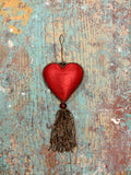 Red Beaded Heart