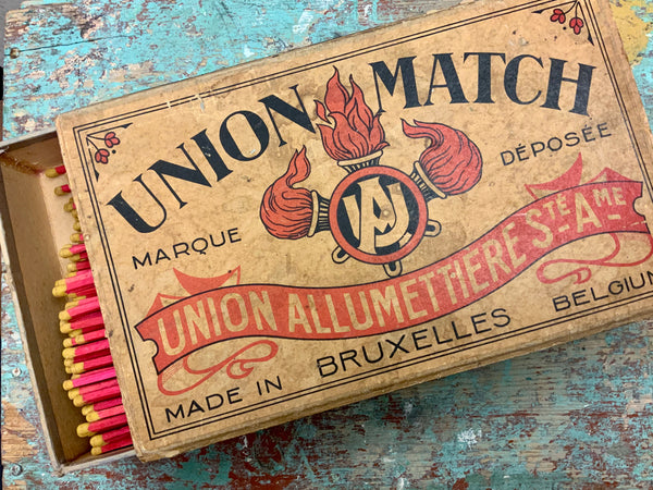 Rare 1925 Union Match Oversized Box