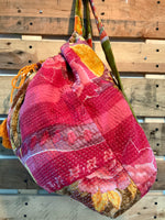 The Desert Rose Kantha Knapsack