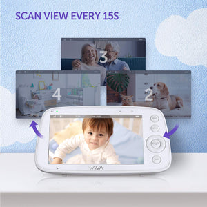VAVA baby camera scan multiple camera automatically every 15 seconds.