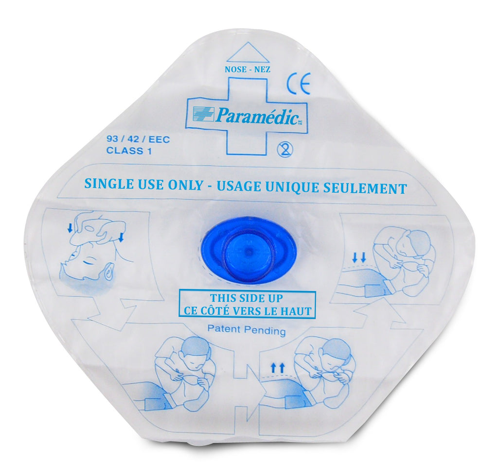Masque de réanimation jetable RCR avc valve antiretour - CPR mask