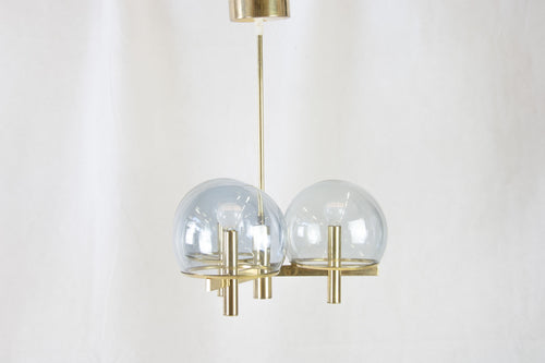 Brass Chandelier by Gaetano Sciolari
