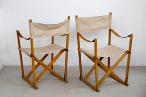 Pair of Safari folding chairs by Mogens Koch for Iterna 1960s