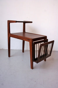 rosewood sidetable / newspaper rack by Kurt Ostervig