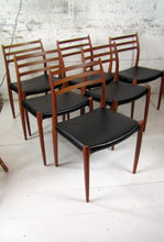 Load image into Gallery viewer, Set of 6 teak dining chairs Model 78 by N.O. Moller