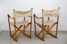 Load image into Gallery viewer, Pair of Safari folding chairs by Mogens Koch for Iterna 1960s