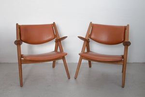 Pair of Sawbuck armchairs CH-28 by Hans J. Wegner for Carl Hansen & Søn