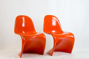 Pair of Verner Panton chairs 1st Edition