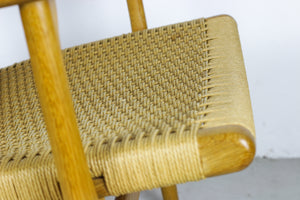 Arm chair CH 25 oak by Hans J. Wegner for Carl Hansen