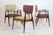 Load image into Gallery viewer, Set of 4 armchairs and a table by Michel Arnoult