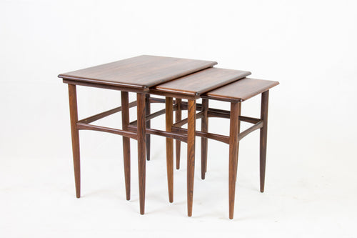 Rosewood nesting tables from Denmark, 1960s