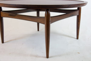 Mid-Century rosewood sofa table by Ejvind A. Johansson for Ludvig Pontoppidan