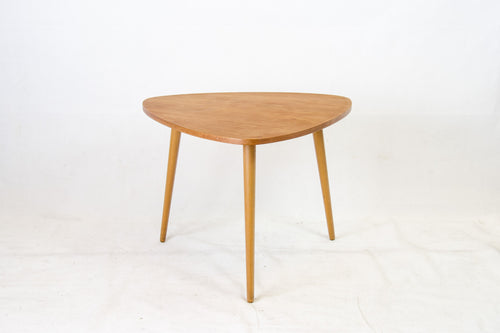 Nice triangular coffee table with teak top by Ilse Möbel