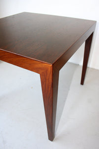 rosewood sidetable by Severin Hansen for Haslev Mobelsnedkeri