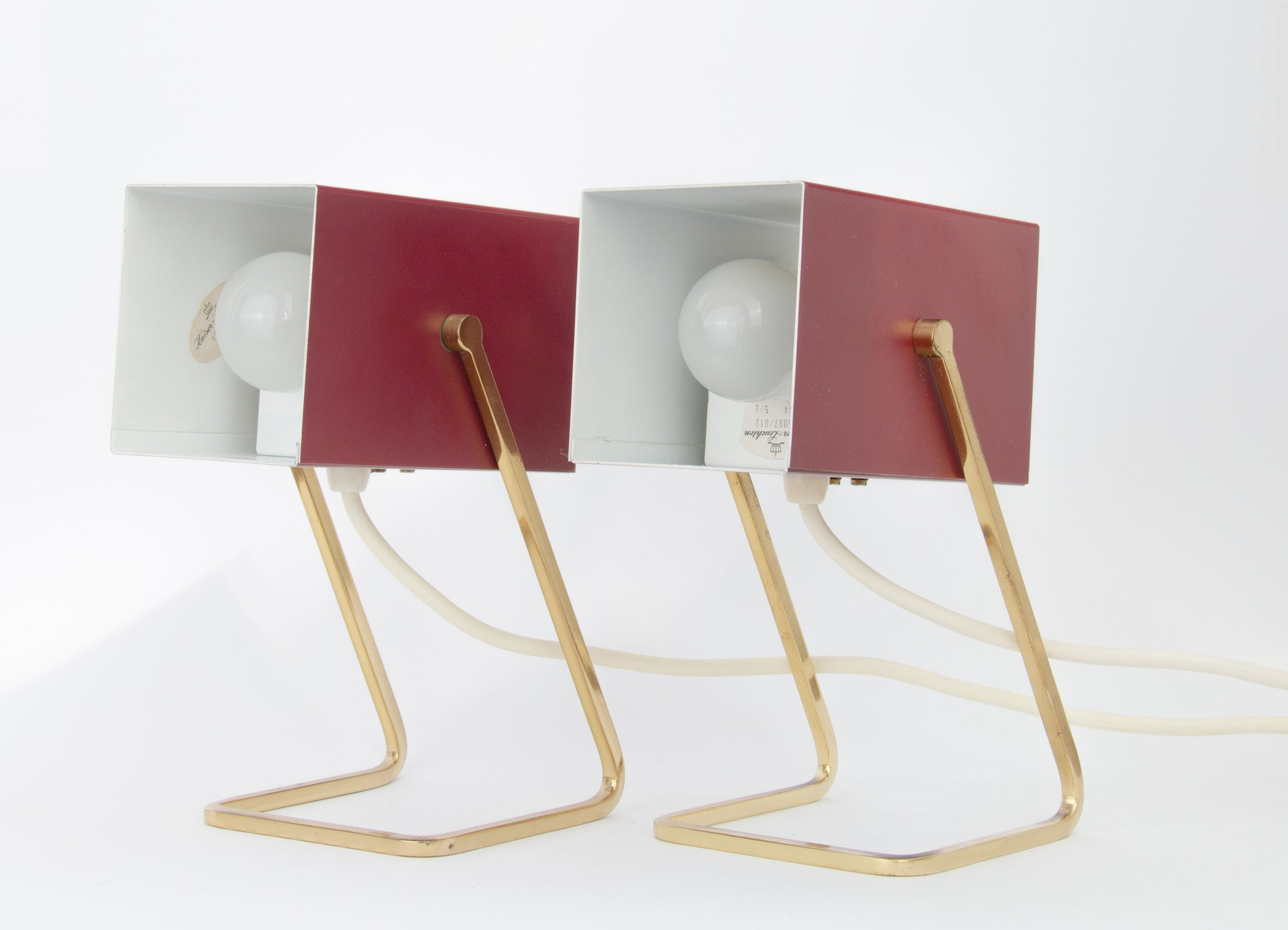 Pair of table lamps by Kaiser Lampen
