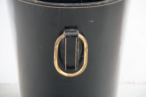 Leather bin by Carl Auböck