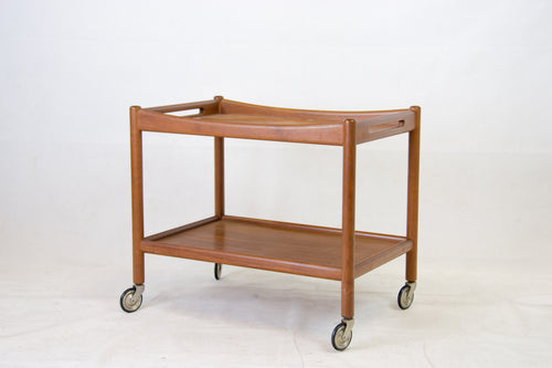 teak serving cart by Hans J. Wegner for Andreas Tuck