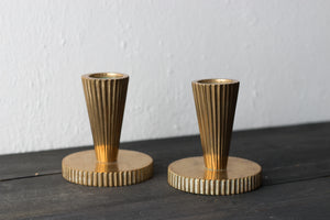 Art deco bronze candle holders by Tinos Denmark 1930s