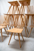 "Load image into Gallery viewer, Set of 10 chairs ""Mikado"" by Johannes Foersom & Peter Hiort-Lorenzen."