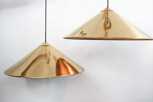 Pair of brass ceiling lamps by Florian Schultz