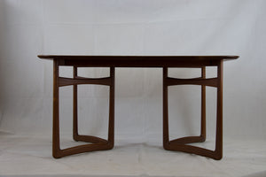 Extendable teak dining table by Peter Hvidt and Orla Mølgaard-Nielsen for France and Daverkoven