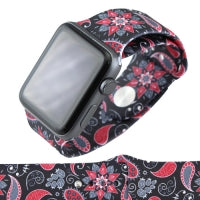 Black Paisley Print Watch Band