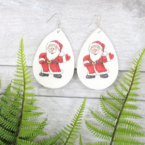 Santa Glitz Earrings