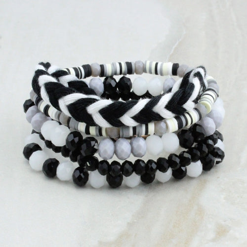Black & White Bracelet Stack