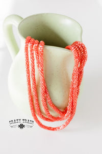 CORAL ** LOOPTY LOO NECKLACE