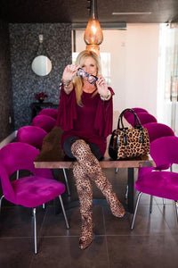 Leopard Knee-High Boots