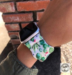 Cactus Scrunchie Watch Band