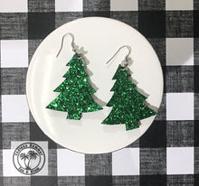 Load image into Gallery viewer, Sparkling Christmas Tree Earrings