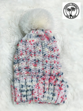 Load image into Gallery viewer, White Multi Fleece Lined Beanie