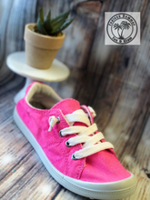 Load image into Gallery viewer, Neon Fuchsia Tennis Shoe