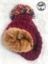 Load image into Gallery viewer, Fleece Lined Beanie-Burgundy