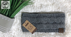 SOLID CABLE KNIT CC HEAD WRAP