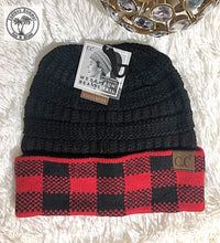 Load image into Gallery viewer, Buffalo Check Knit CC Beanie
