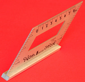 SHINWA Square Layout Miter ruler 45 + 135 Degrees 62060 stainless steel Japan Japanese tool woodworking carpenter
