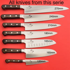 KAI High carbon MV stainless steel set all knives BENIFUJI Seki Japan
