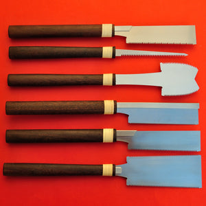 Set of 6 Small saws 120mm SK-5 Ripcut crosscut dozuki kataba mawashibiki azebiki
