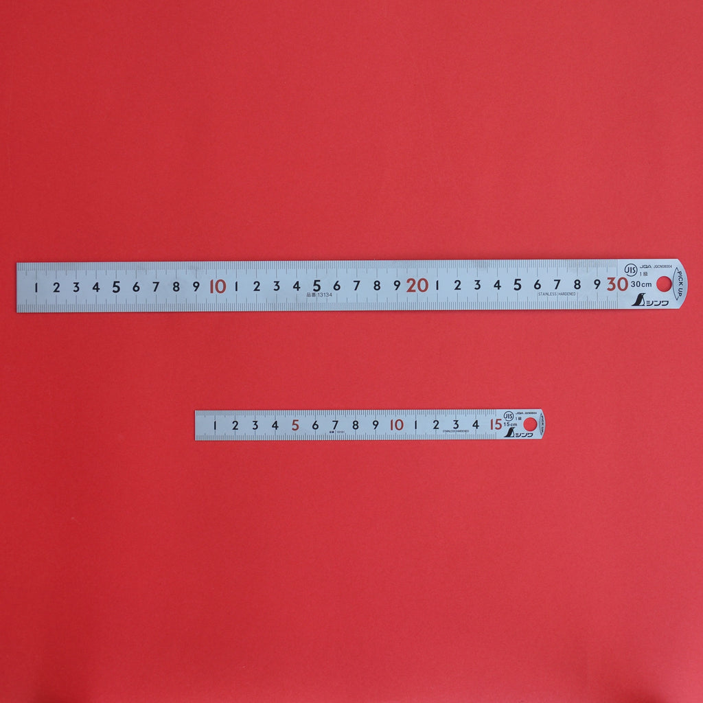 SHINWA pick up ruler scale 15cm 30cm Stainless 13131 13134