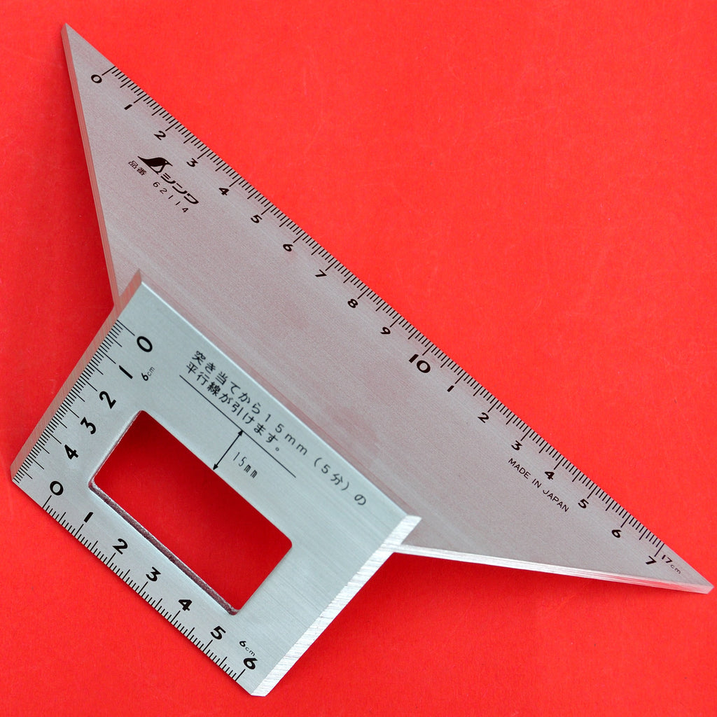 SHINWA Square Layout Miter ruler 45 + 90 Degrees 62114 aluminum Japan Japanese tool woodworking carpenter